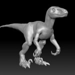 Initial sculpting of our velociraptor