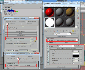 Steps to create an Ambient Occlusion State set in 3ds Max