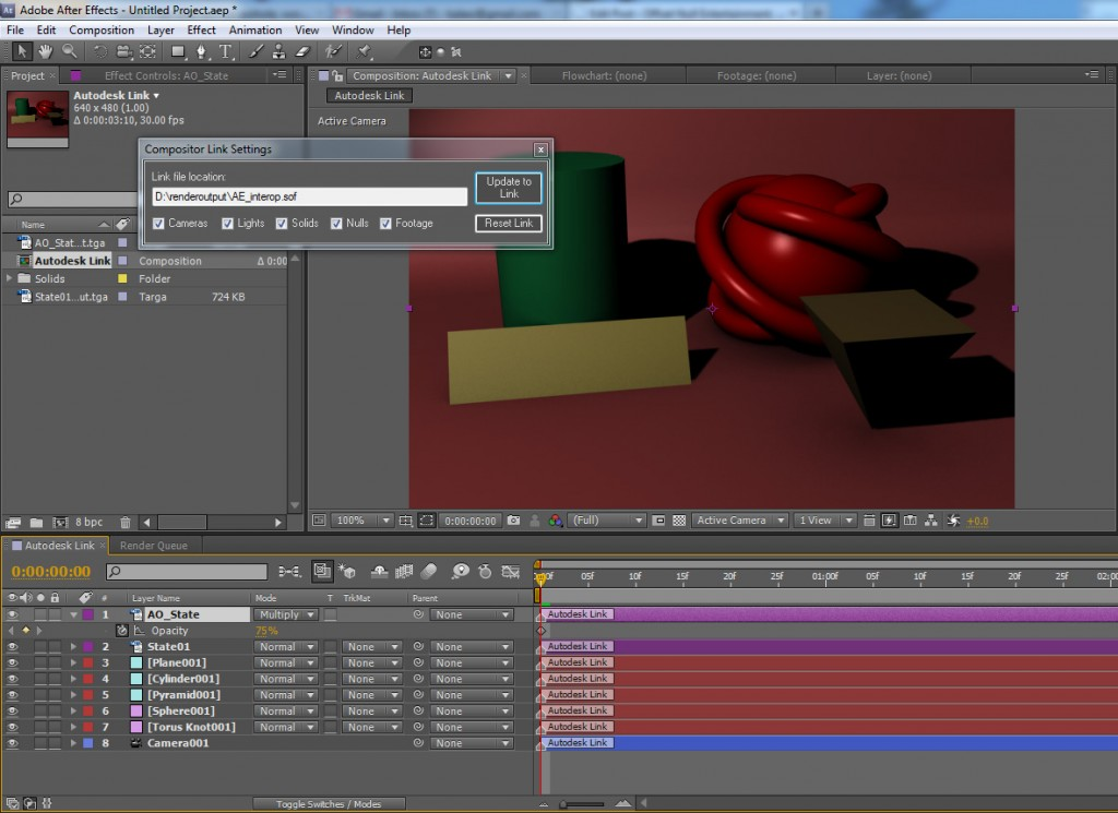After Effects interoperability from 3ds Max
